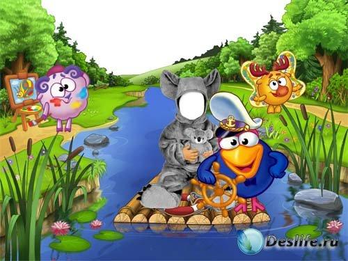 Детский костюм для Фотошопа - Смешаpики и Панда