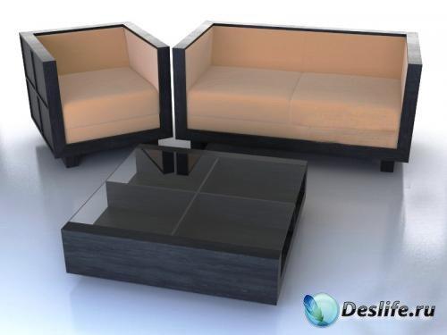 3D Модели набора мебели Morelaro