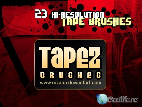 Tapez photoshop brushes