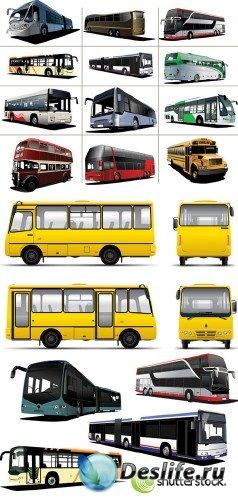 Bus Vector - КлипАрт - Автобусы в векторе