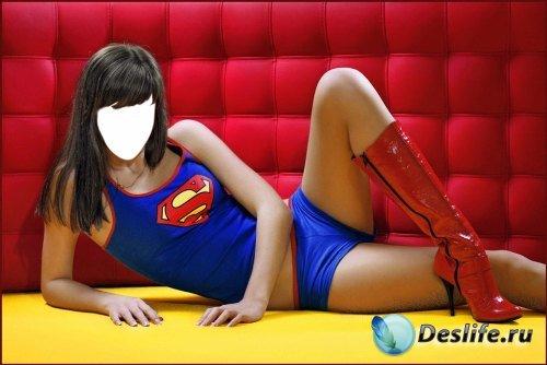 Костюм для Фотошопа – Девушка-супермен