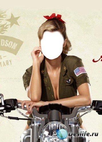 Костюм для Фотошопа – Девушка-сержант