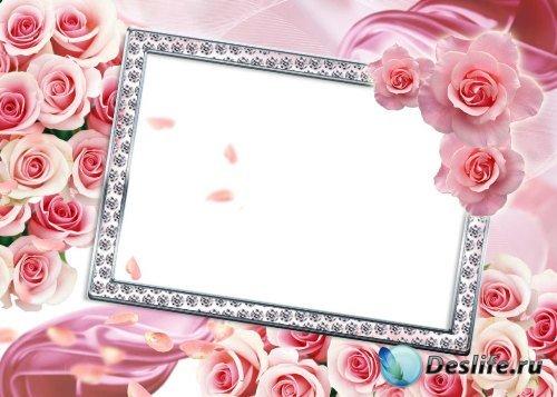 Рамка для Фотошопа – Розовое настроение