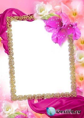 Рамка для фотошоп – Весенний аромат