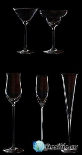 3d модели бокалов. Hight Poly и Low Poly