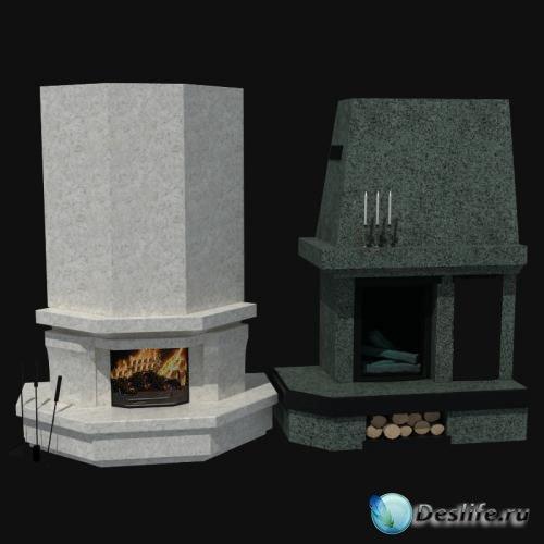3D Модели каминов