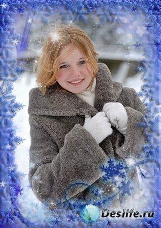 Рамочка для Фотошопа - Зимняя