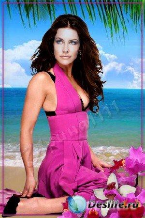 Женский костюм для Фотошопа - Тропиканка