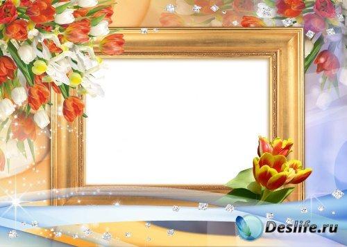 Рамка для фотошоп – Картина маслом