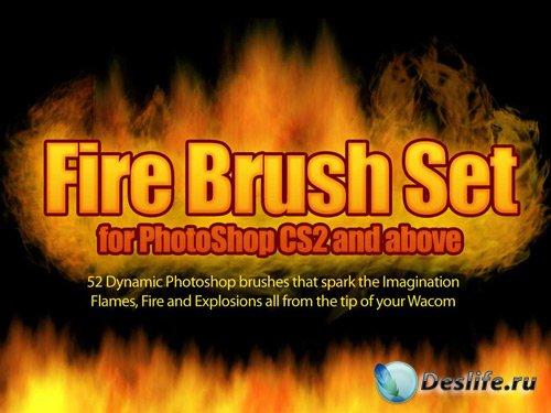 Fire Brush Set - Огненные кисти для фотошопа