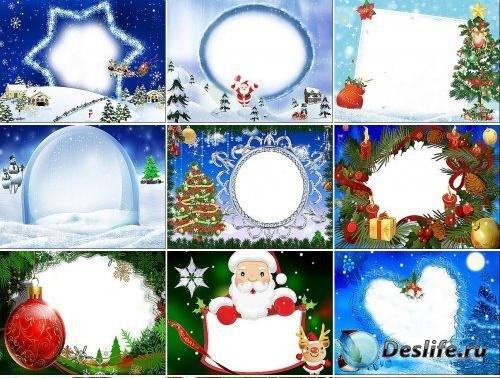 Рождественские рамки для Фотошопа 3
