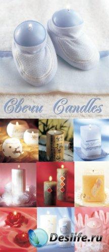 Красивые свечи - КлипАрт