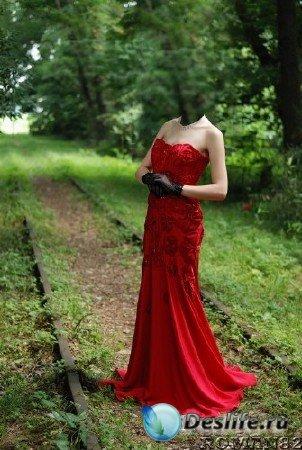 Костюм для Фотошопа - В шикарном платье