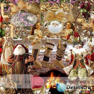 Скрап-набор для Фотошопа – Рождество в стиле Барокко