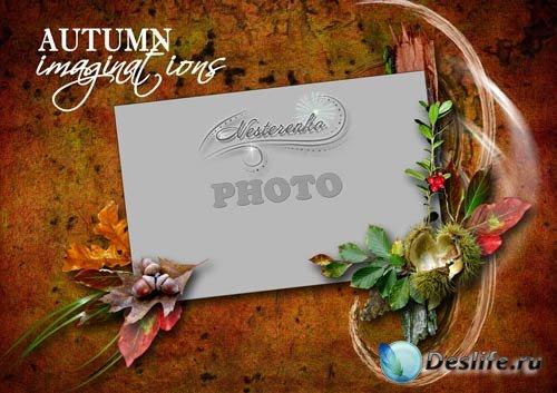Рамка для Фотошопа - Осенние фантазии_3
