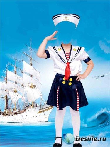 Костюм для фотошопа – Морячка