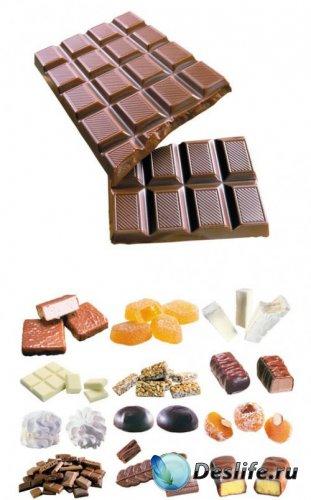 Шоколад и сладости - КлипАрт