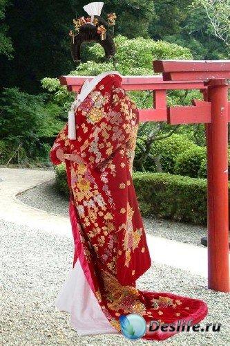 Костюм для Фотошопа – В праздничном кимоно