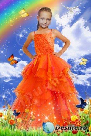 Детский костюм для фотошопа - Яркая весна