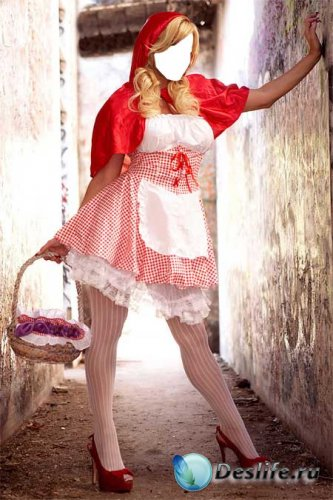 Костюм для Фотошопа - Современная Красная Шапочка