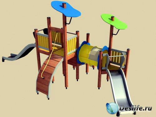 3D Модель детской площадки