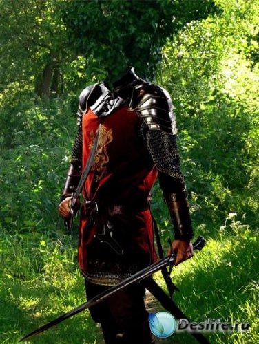 Костюм для Фотошопа - Лесной рыцарь