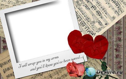 Рамка для фото - Любовь и музыка