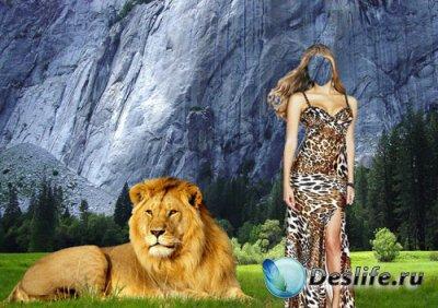 Костюм для фото - Девушка со львом