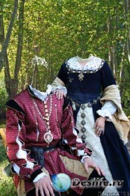 Костюм для Фотошопа - Королевская чета