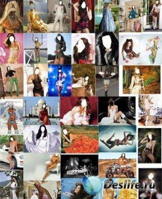 Женские и мужские костюмы для Фотошопа