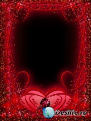 Красная рамка для Фотошопа - Garnet Red Frame