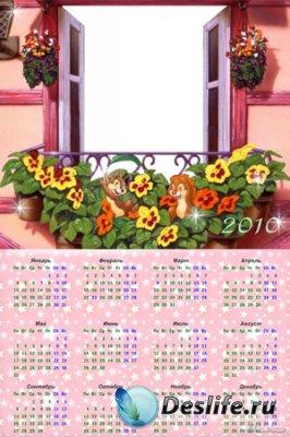 Календарь для Фотошопа - Чип и Дейл