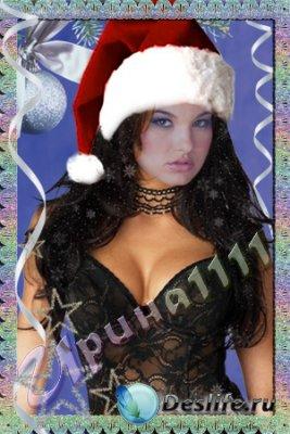 Женский костюм для Фотошопа - Новогодняя звезда