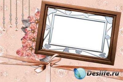 Рамочка для Фотошопа - В розовых тонах