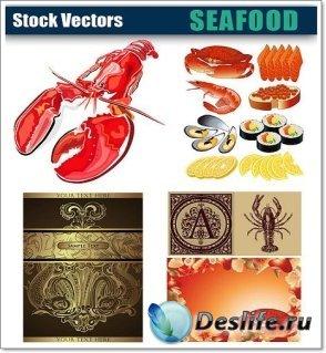 Векторный КлипАрт - Морепродукты (Seafood)