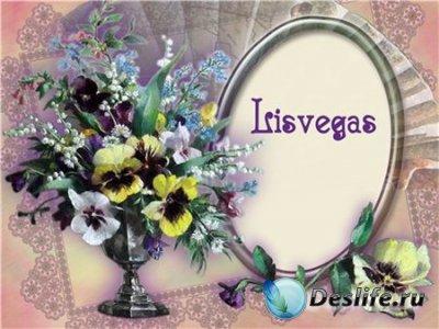 Цветочная рамочка - Фиалковый праздник