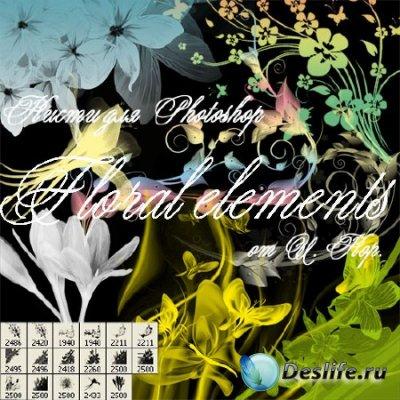 Кисти для Photoshop - Цветочные элементы