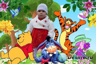 Шаблон-рамка для фотошопа - Винни и его друзья