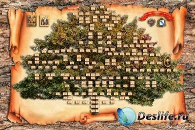 Шаблон генеалогическое древо семьи