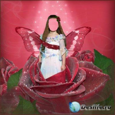 Костюм для фотошопа - Цветочная фея