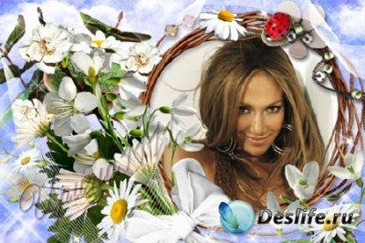 Рамка для Photoshop - Цветы для любимой