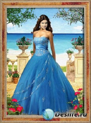 Женский костюм для фотошопа - Портрет девушки