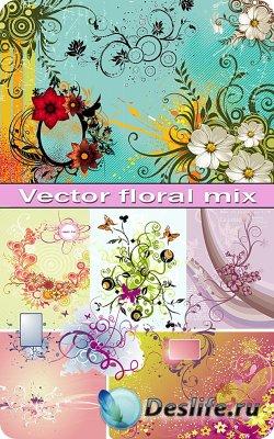 Сборник цветочного клипарта в векторе