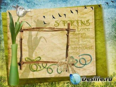 Чудесная рамочка для фотошопа - Spring