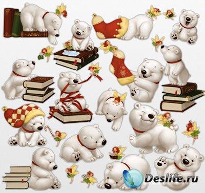 Клипарт для фотошопа - Забавные мишки художницы Kei Acedera
