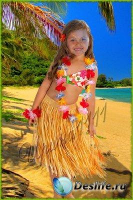 Детский костюм для фотошопа - Под пальмами