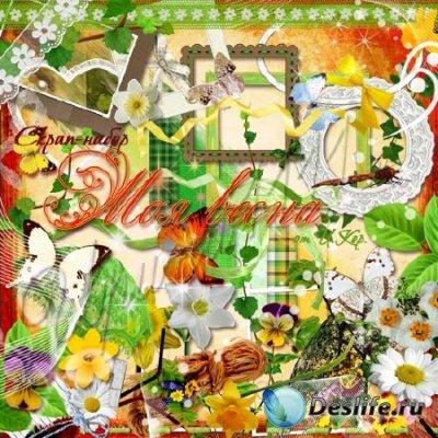 Скрап-набор для фотошопа - Моя весна