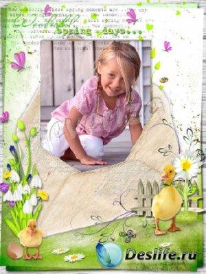 Рамка для фотошопа – Весенний день