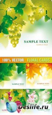 Векторный клипарт - Floral Cards