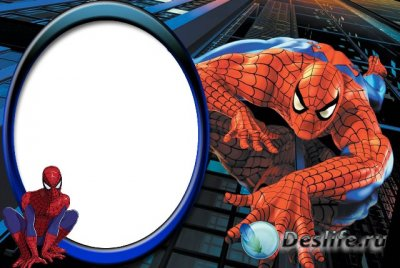 Рамка для фотошопа - Человек-паук